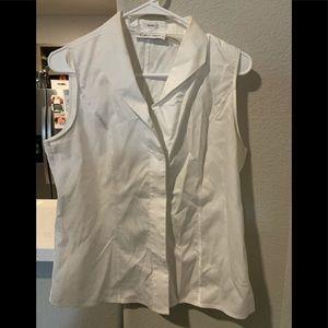 Calvin Kline Dress Top. White. Size 10